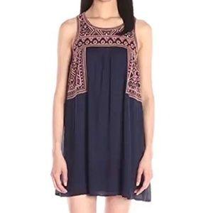 Blu Pepper Women's Sleeveless Embroidered Dress